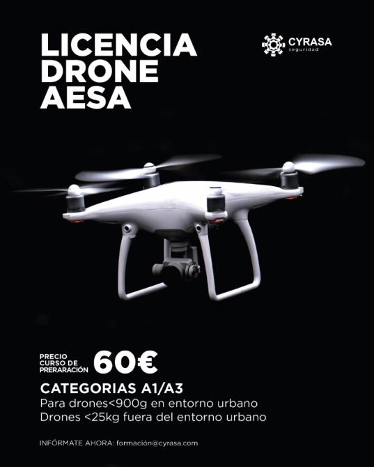 Abierto el plazo de inscripción para el curso de piloto de drones