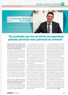 Seguritecnia entrevista a Santiago Macharal, Director de Seguridad de Cyrasa