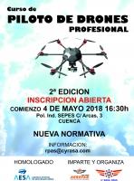 Segunda edición del curso de piloto avanzado de drones