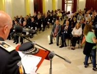 Reconocimiento a Santiago Macharal en el día del patrón de la Policía Local