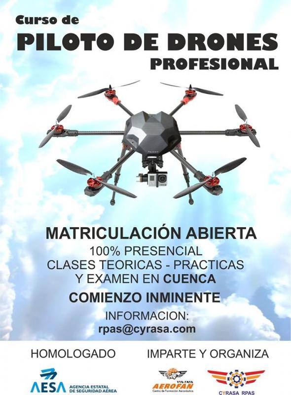 Cyrasa Seguridad impartir� una nueva edici�n del curso de piloto avanzado de drones