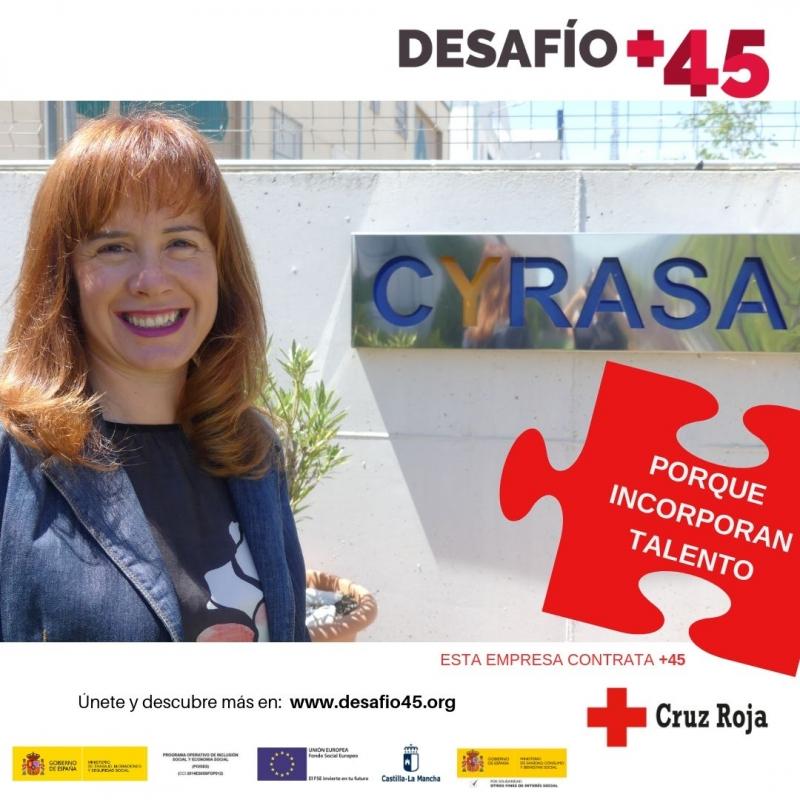 Cyrasa se suma a la campa�a #Desaf�oM�s45, una iniciativa que quiere poner en valor la importancia en el mercado laboral de las personas mayores de 45 a�os