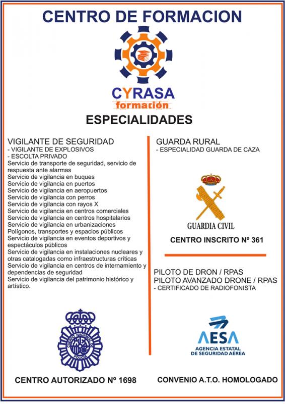 Las especialidades del centro de formaci�n de Cyrasa