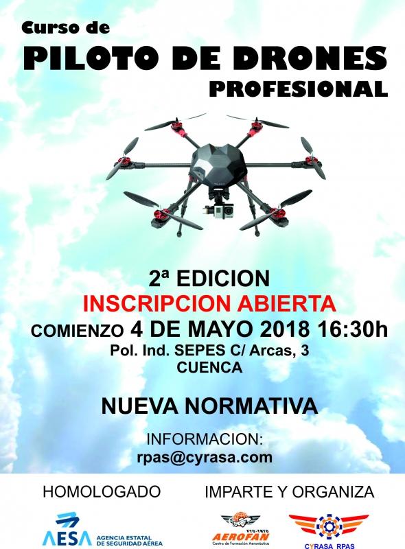 Segunda edici�n del curso de piloto avanzado de drones