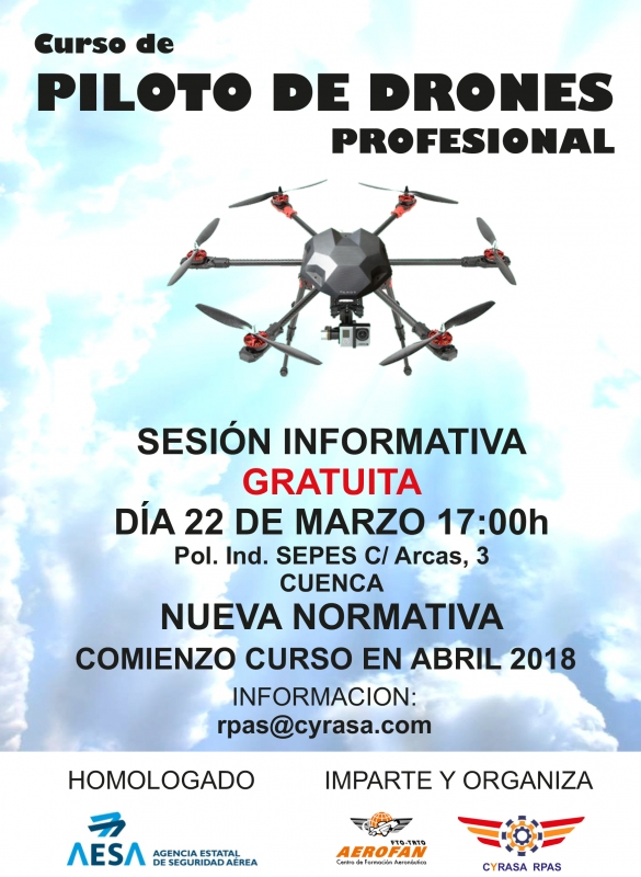 Sesi�n informativa gratuita sobre nuestro curso de drones