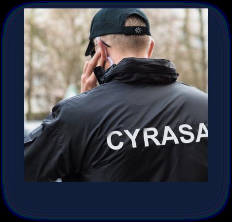 Imagen vigilante seguridad Cyrasa